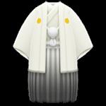 動森 六月新娘 婚禮服飾-白色羽織和服褶裙