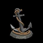 釣魚大會攻略:錨裝飾品-銀色