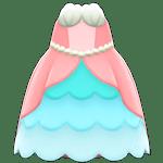 動森人魚服飾系列:人魚公主洋裝A