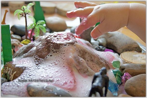 DSC07374 Как сделать вулкан в домашних условиях. Макет вулкана своими руками из бумаги, монтажной пены и пластилина: мастер-классы с подробными инструкциями