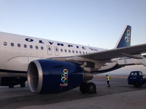 オリンピック航空 サントリーニ