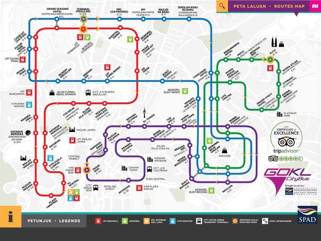 GO KL bus map