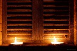 Beleuchtung der Stadt zur Prozession in Castel Nuevo Beradenga