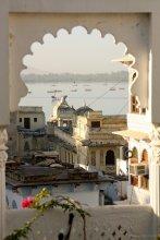 Traumhafter Blick vom Hotel Minerwa auf den Pichola Lake, Udaipur