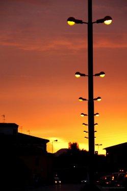 Sonnenuntergang beim Weg von Prato nach Lucca