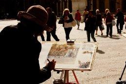 Malerin in Lucca