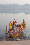 Bootsfahrer am Yamuna, Mathura