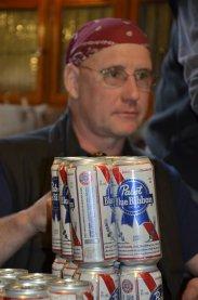 ...gibt es ein Bier für die Crew!