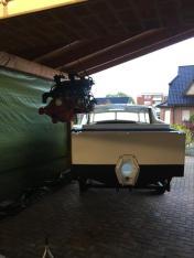 Hier kommt der restaurierte Motor...