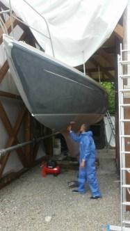 Nach dem Neuaufbau des Unterwasserschiffs...