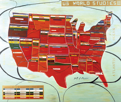 """US World Studies III"" 60"" x 72"""