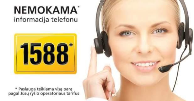 Nemokama informacija telefonu 1588