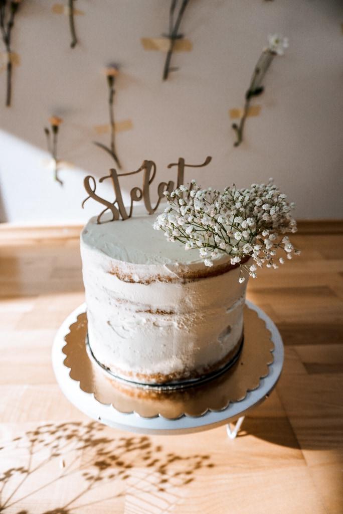 smash cake tort