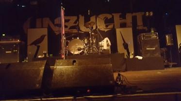 Die Bühne bevor es endlich los ging