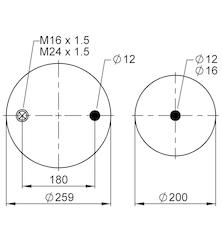 Пневморессора передняя PREMIUM MAGNUM KERAX DXI c 2005 г
