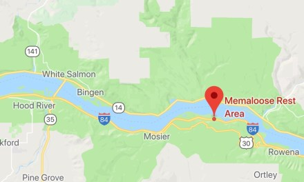 New Fire Start East of Hood River Memaloose Rest Area Spreading