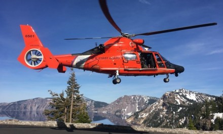 Coast Guard airlifts man from Loon Lake Oregon