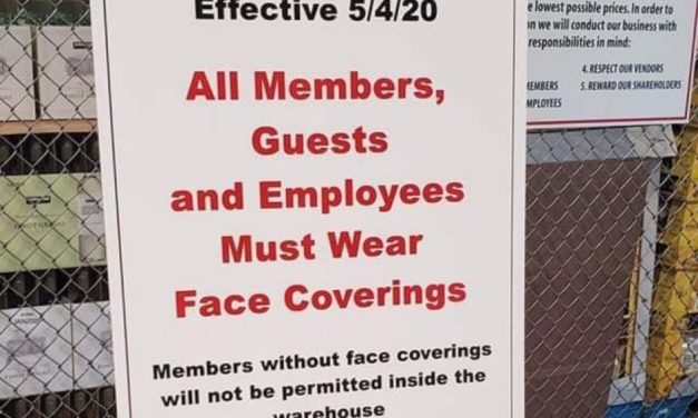 Costco members and guests will be required to wear a face covering at all times while at Costco starting May 4th