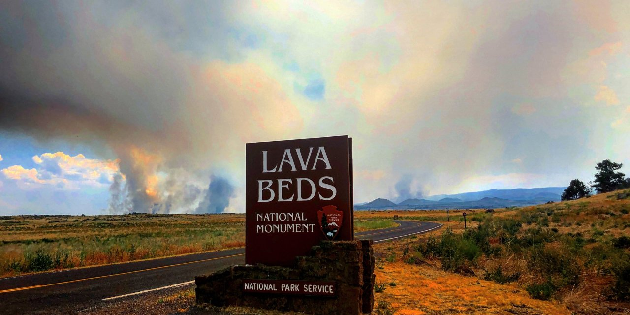 Updated Caldwell Fire map and images from NPS – Lava Beds
