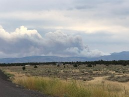 Crane Fire - from 10 miles west of Lakeview Hwy 140