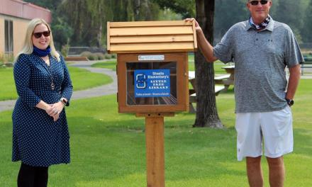 Shasta Elementary builds, opens Little Free Library