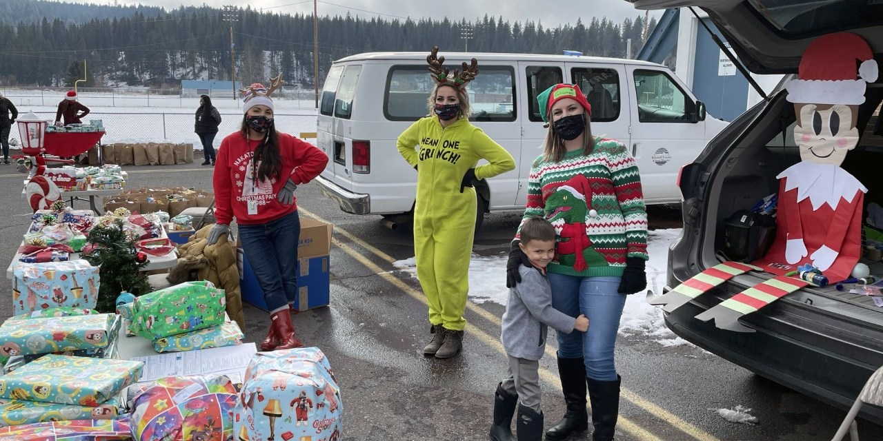 Reaching out: 'We know our families'  – Food and gifts delivered to students throughout the area