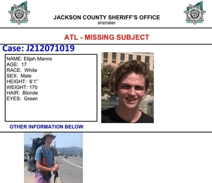 UPDATE: MISSING 17-YEAR OLD Pacific Crest Trail HIKER