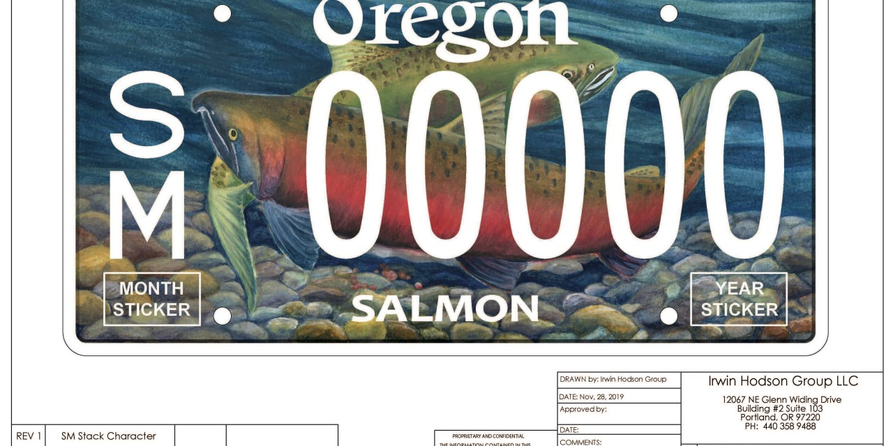 Oregon's classic salmon license plate gets a new look