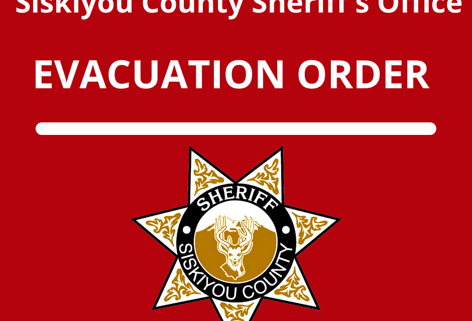 An EVACUATION ORDER has been issued for the following areas due to the Antelope Fire