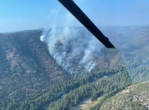 Bear Flat Fire currently burning in Klamath River Canyon