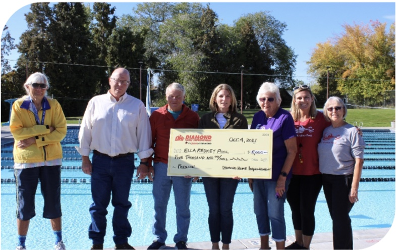 DIAMOND HOME IMPROVEMENT DONATES $5,000 TO FRIENDS OF ELLA REDKEY POOL