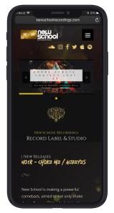 New School Recordings Mobile UX