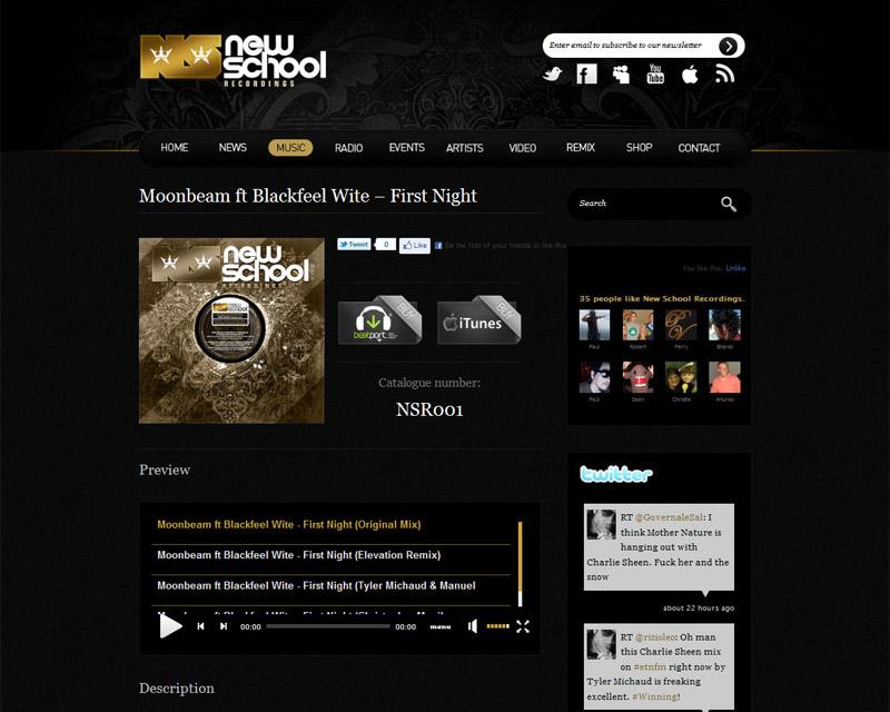 New School Recordings 2011 Wordpress Music Page