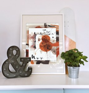 The Unknown Muse IV art print framed
