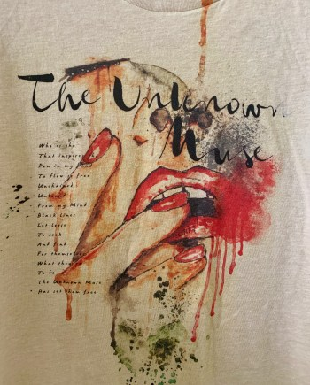 The Unknow Muse Women's Graphic T-shirt Sand Beige front