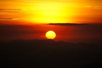 Sonnenuntergang am Vullkan Poas