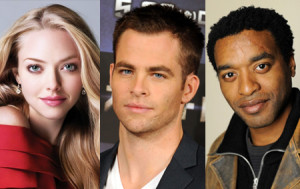 Amanda Seyfried, Chris Pine og Chiwetel Ejiofor leika í Z for Zachariah.