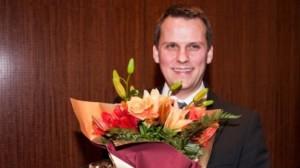 Magnús Geir Þórðarson er næsti útvarpsstjóri. Á myndinni er hann að taka við Íslensku þekkingarverðlaununum 2010.