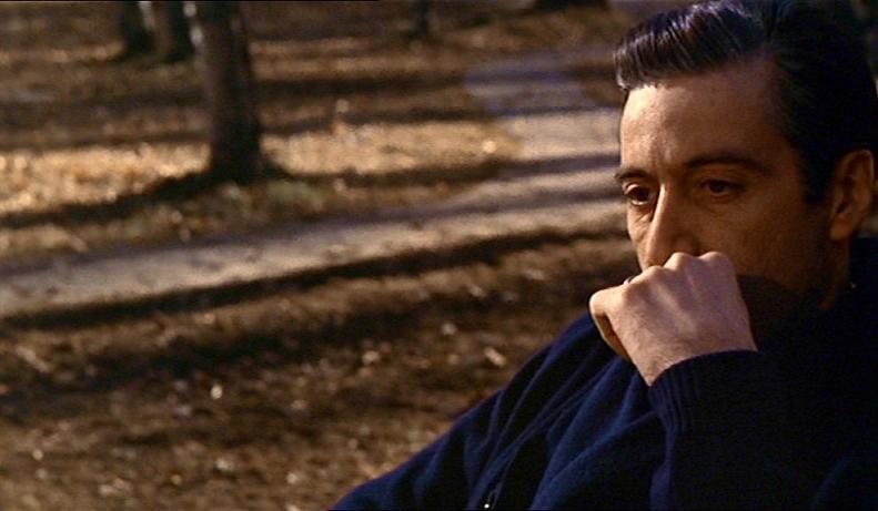 Al Pacino sem Michael Corleone í lokaatriði The Godfather Part II.