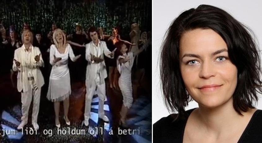 Silja Hauksdóttir (til hægri) stýrði Skaupinu 2008.