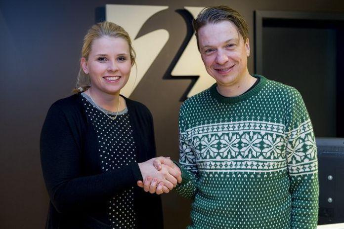 Jóhanna Margrét Gísladóttir sjónvarpsstjóri Stöðvar 2 og Baldvin Z leikstjóri.