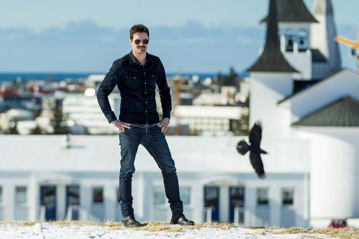 Björn Hlynur Harladsson leikstjóri og handritshöfundur Blóðbergs. Mynd: Vísir/Vilhelm.