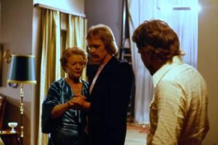 Upptökur á Undir sama þaki 1976. Guðrún Þorbjarnardóttir, Laddi, Hrafn Gunnlaugsson.