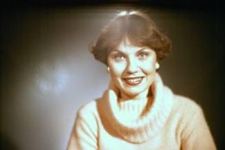 Birna Hrólfsdóttir þula, tekið 1978 líklega.