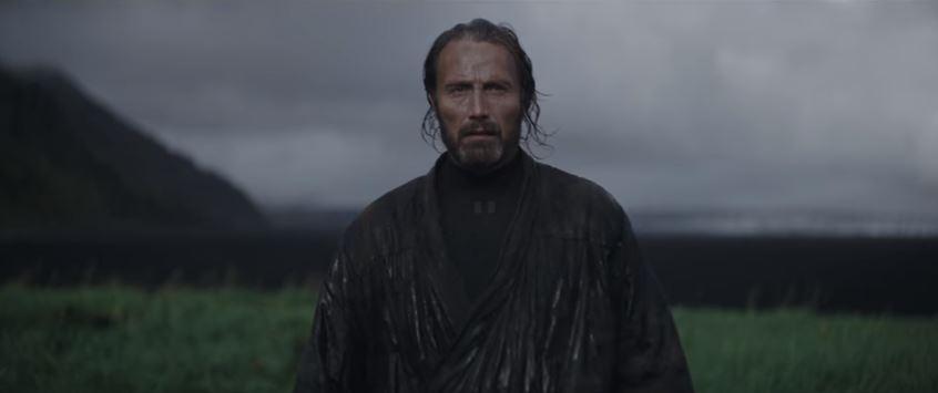 Mads Mikkelsen í íslensku umhverfi í Rogue One.