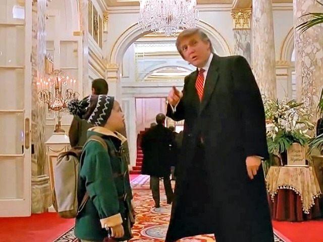 Donald Trump og Macaulay Culkin í Home Alone 2.