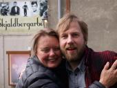 Hrafnhildur Gunnarsdóttir og Hafsteinn Gunnar Sigurðsson við Skjalborgarbíó.