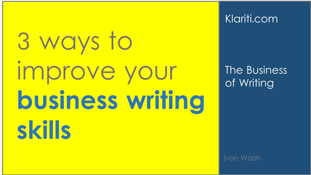 How Can I Improve My Business Writing Skills