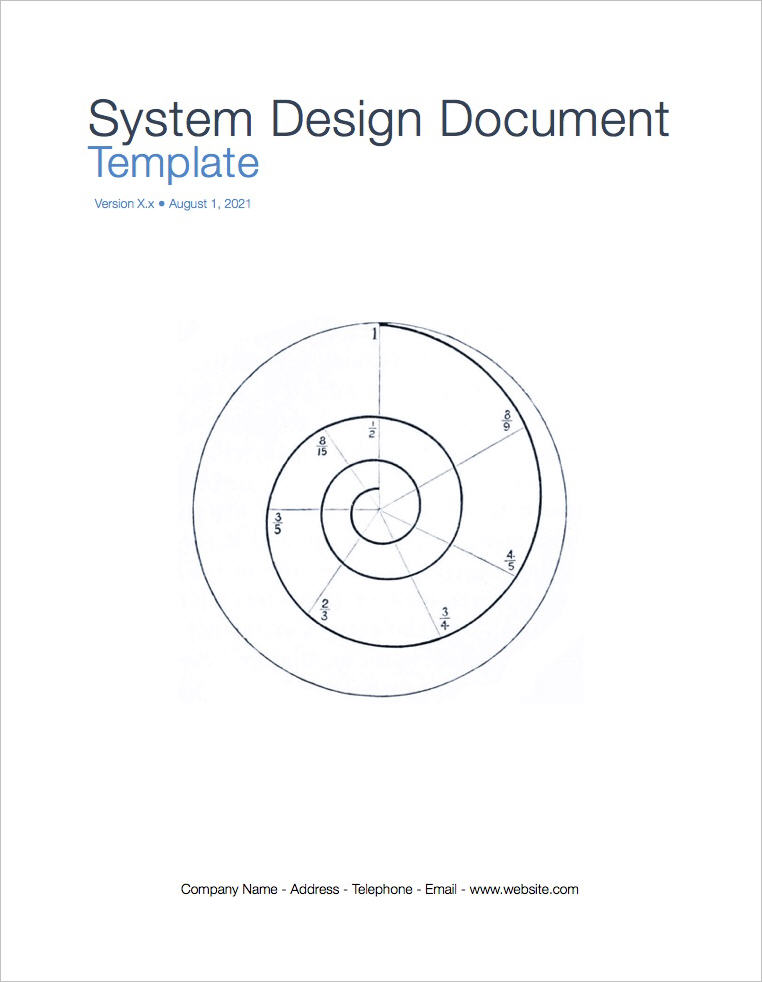 System Design Document Template (Apple iWork Pages)
