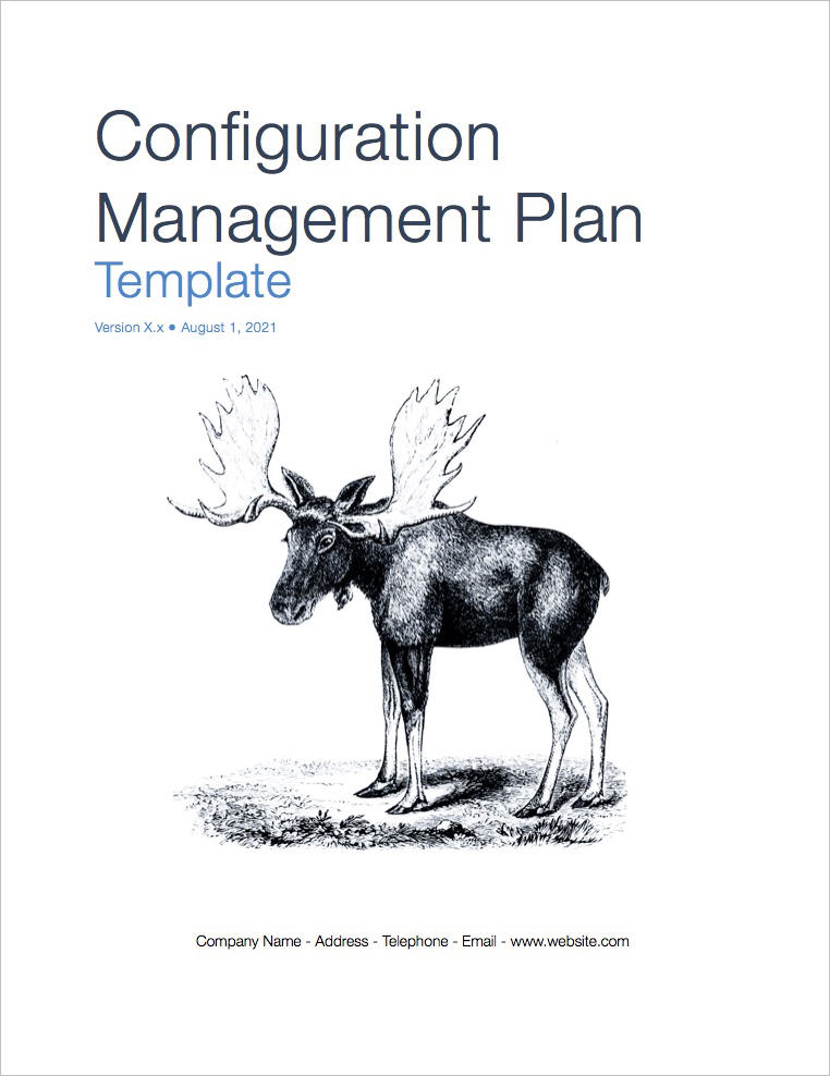 Configuration Management Plan Template (Apple iWork Pages)
